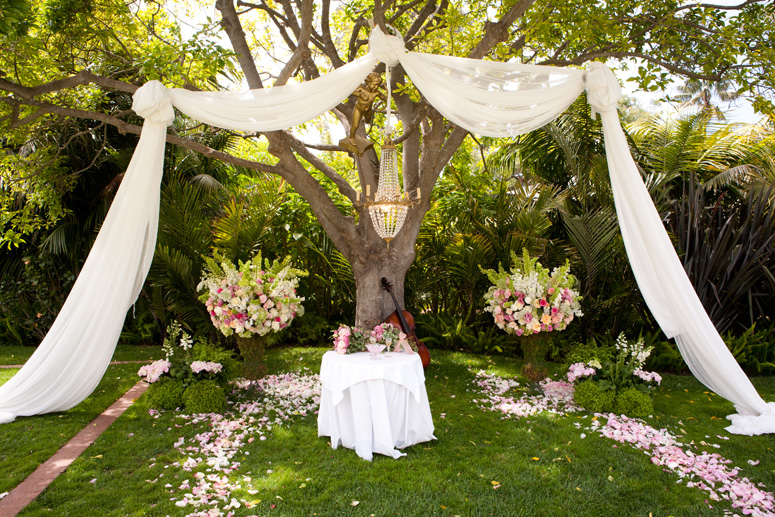 Backyard wedding ideas the best of all wedding worlds lifes tree or shrub for the wedding altar for a truly romantic setting for your wedding ceremony gather up friends and family to help you create decorations junglespirit